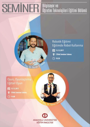 Anadolu Üniversitesi Bilgisayar ve Öğretim Teknolojileri Eğitimi Bölümünde Robotik Eğitimi ve Oyunla