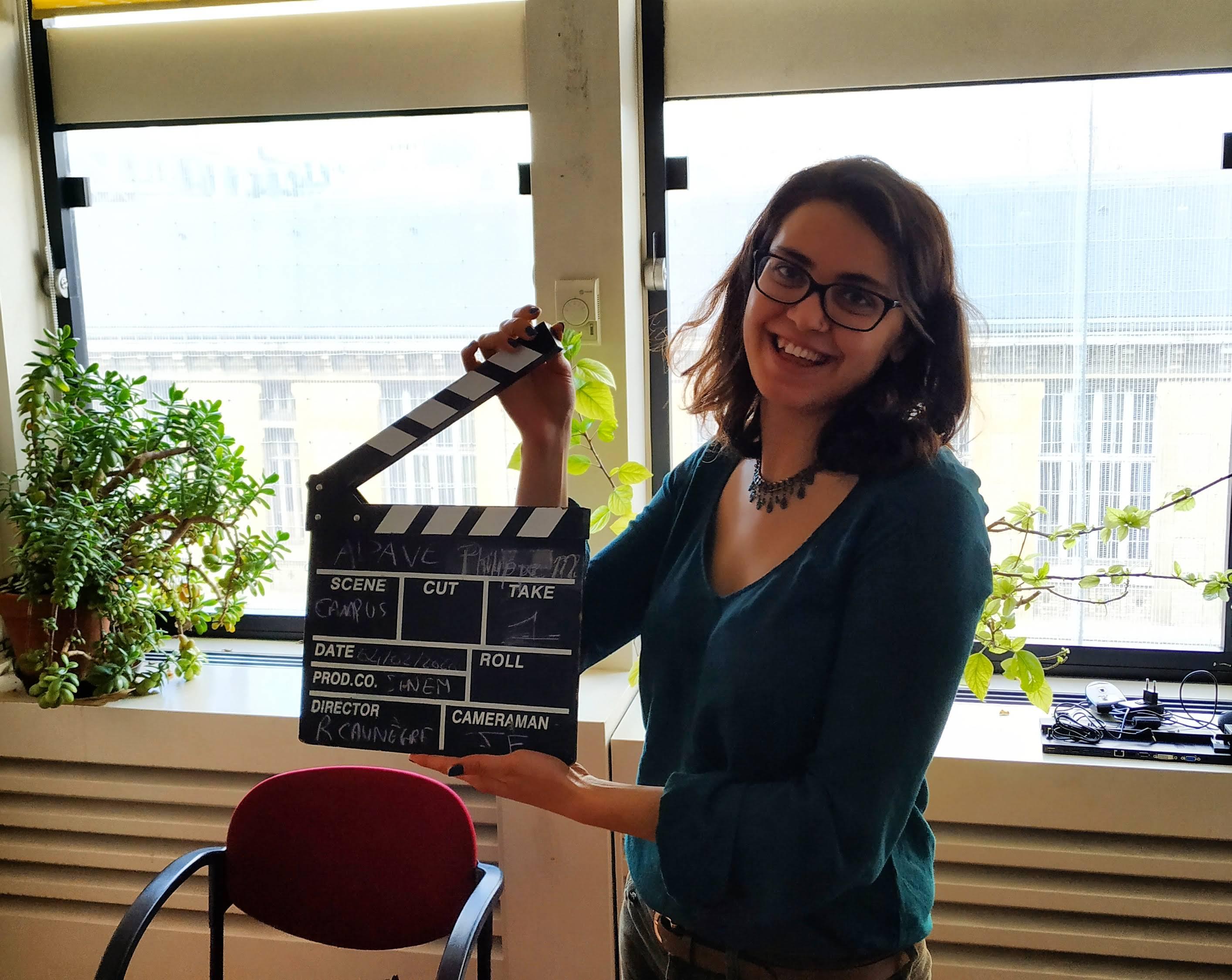 Weup Learning şirketinden dijital eğitim içeriklerini hazırlamak için kamera çekimlerinden bir kare.